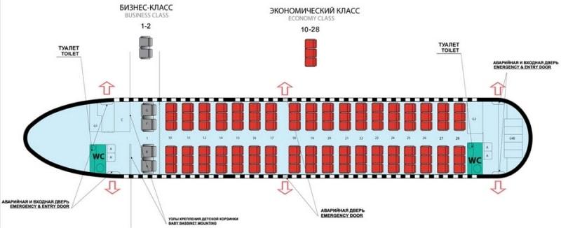 схема салона Боинг 737-500