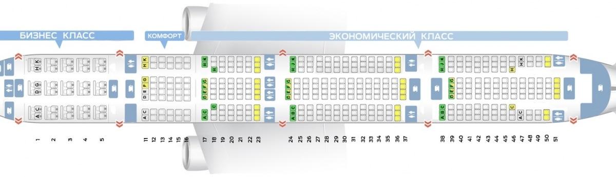 Boeing-777-300 схема салона