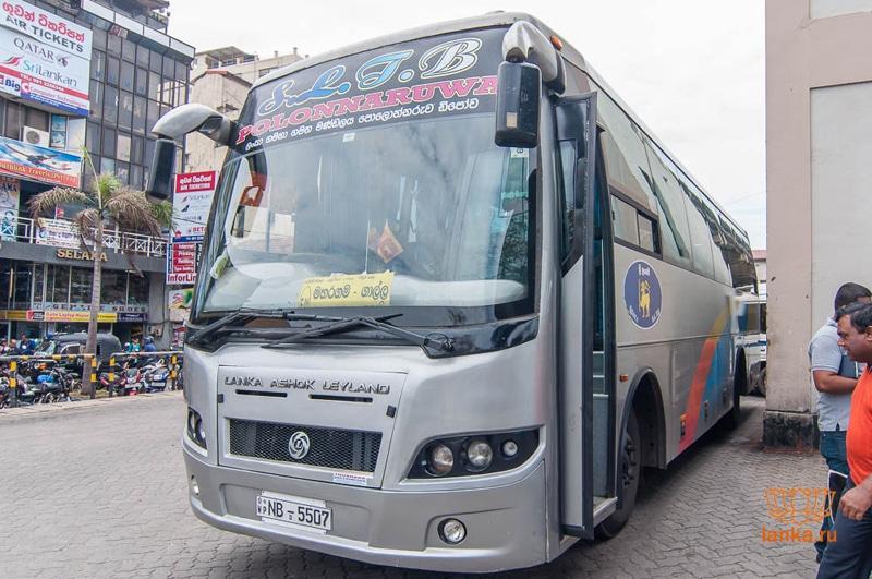 Добраться из аэропорта Коломбо до Коломбо на автобусе