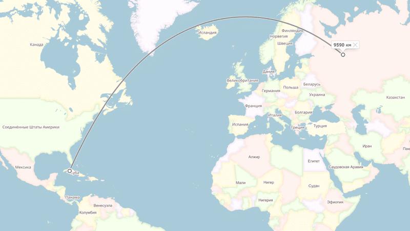 сколько часов лететь до Кубы из Москвы