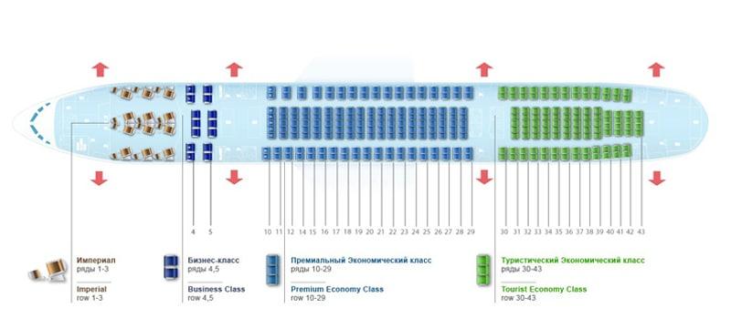Схема салона Boeing 757 200