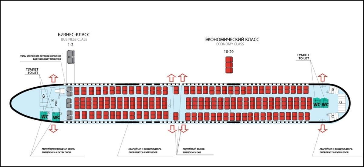 Схема расположения боинг 767-300
