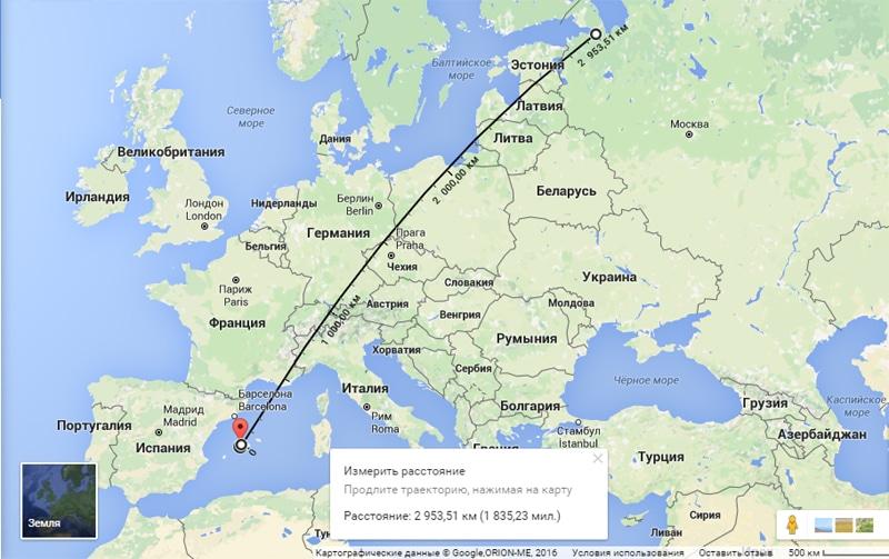 Сколько лететь до Майорки из Санкт-Петербурга