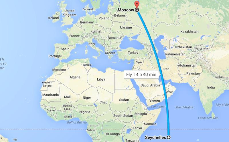 Сколько лететь до Сейшел из Москвы прямым рейсом
