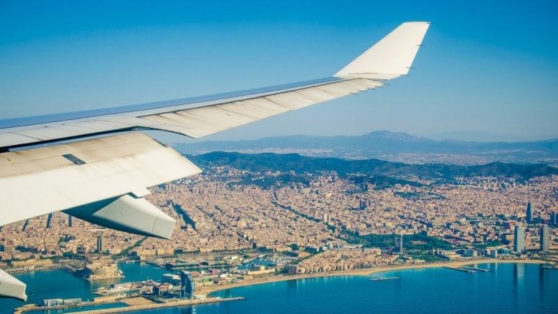 время полета Москва - Барселона