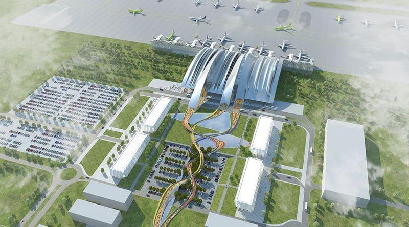 Показать на карте где строится новый аэропорт в Ростове-на-Дону