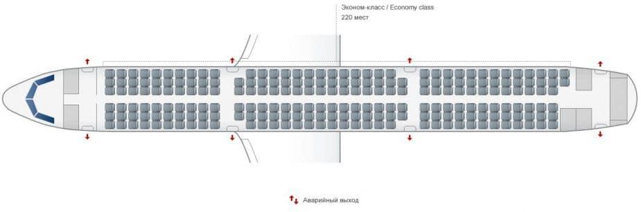 Схема салона А321 Уральские авиалинии