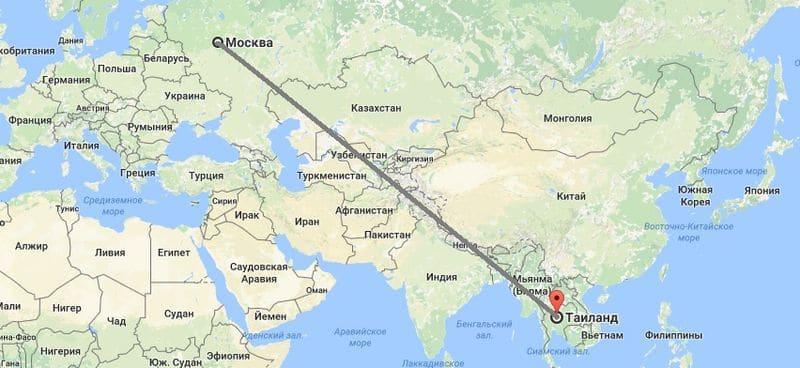 Стоимость перелета в Тайланд из Москвы