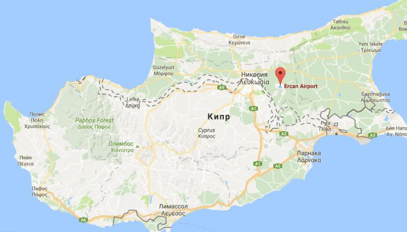 в каком городе аэропорт на Кипре