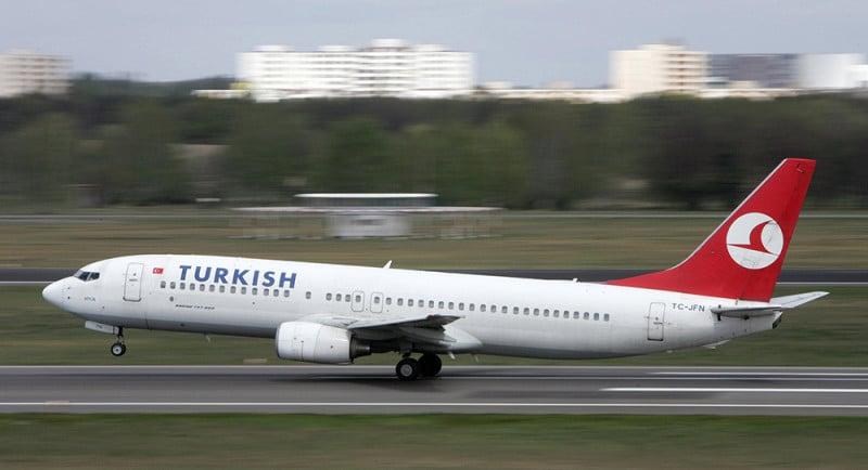 время полета Москва - Турция
