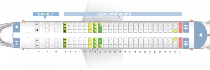 Airbus industrie A320 Уральские авиалинии схема салона лучшие места