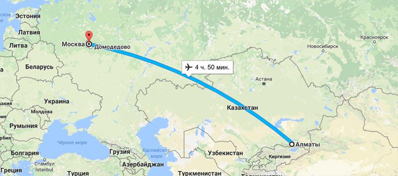 Москва тюмень время в полете