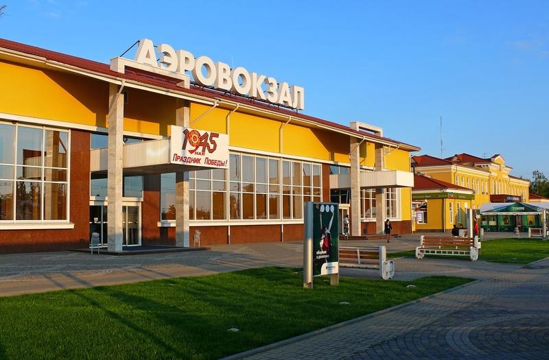 Ааэропорт в Краснодаре на карте