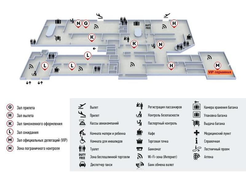 Ааэропорт Краснодара на карте