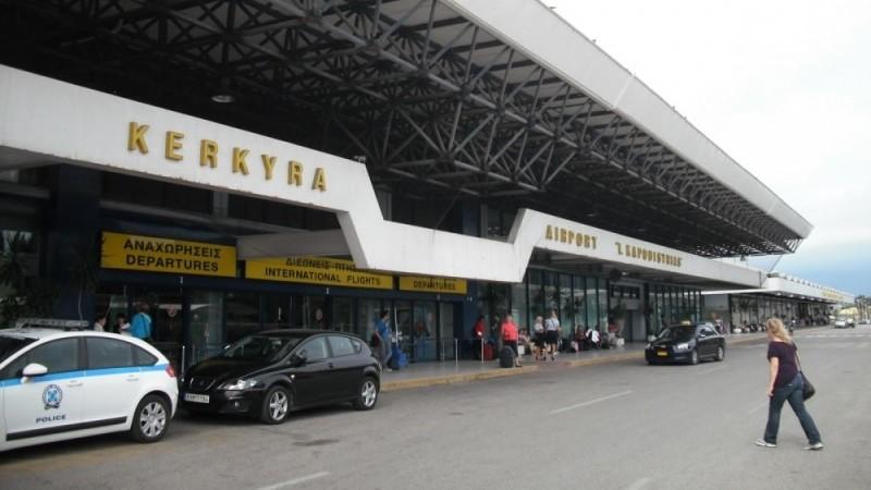 аэропорт Корфу на карте