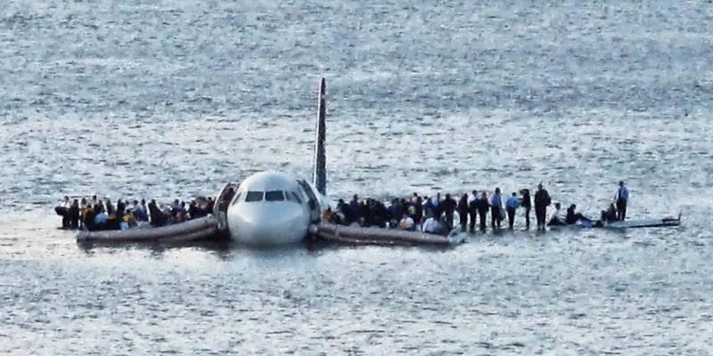 аварийная посадка самолета на Гудзон
