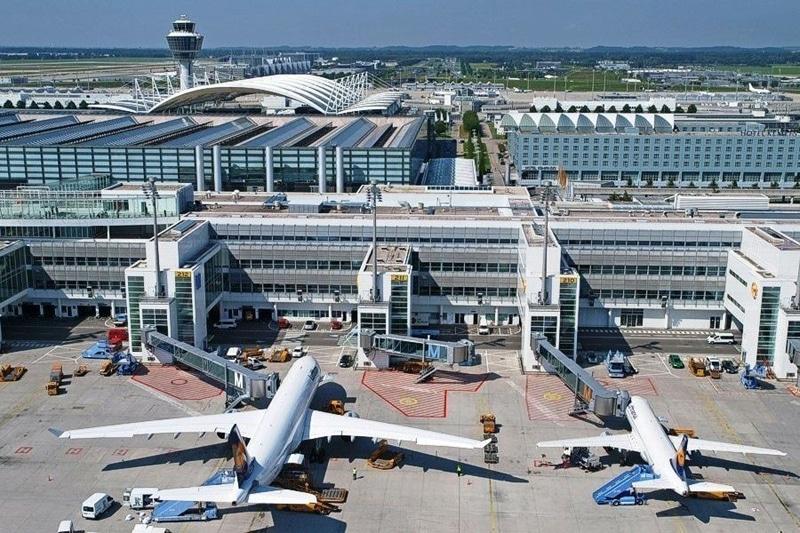 Аэропорты Европы на карте