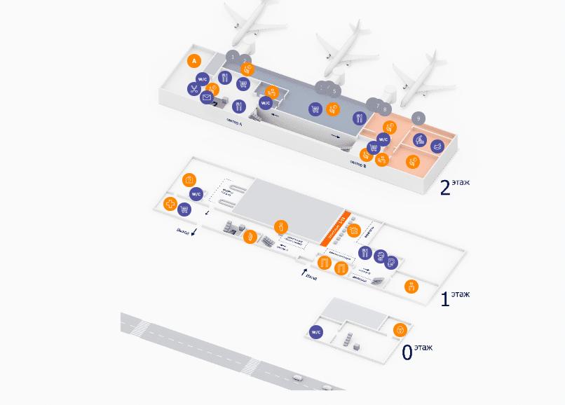 Аэропорт Уфы на карте
