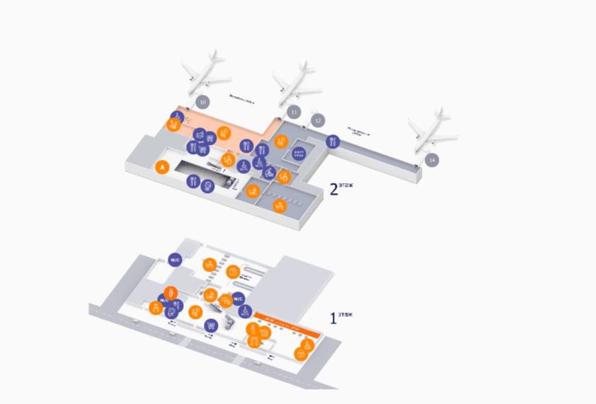Схема аэропорта Уфы