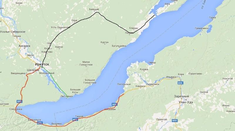 Сколько лететь до Байкала из Москвы