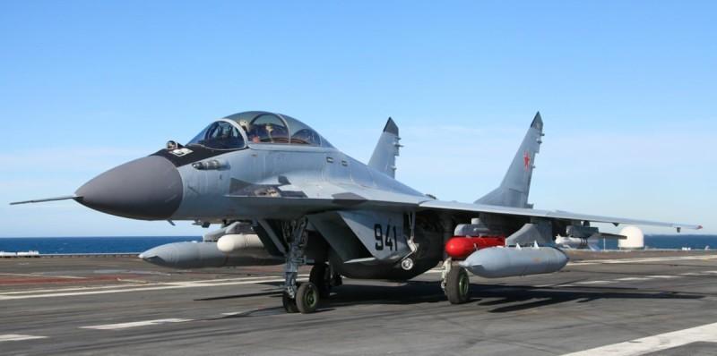 видео падения самолета с Адмирала Кузнецова