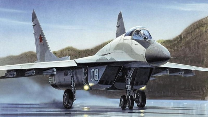 вертикальный взлет МиГ-29 ушел в небо как ракета