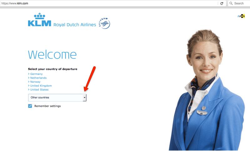 авиакомпания KLM официальный сайт на русском языке