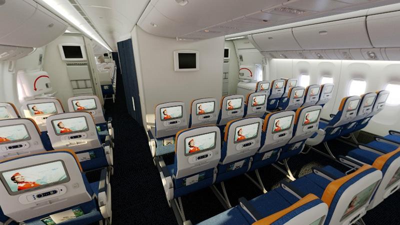 Схема салона самолета 77W Аэрофлот