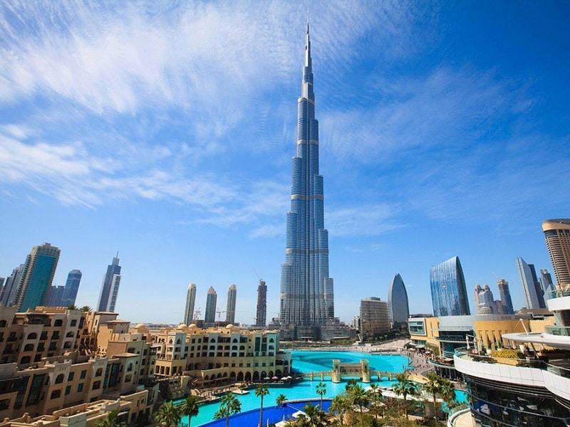 Высота Бурдж Халифа в Дубаеполета9