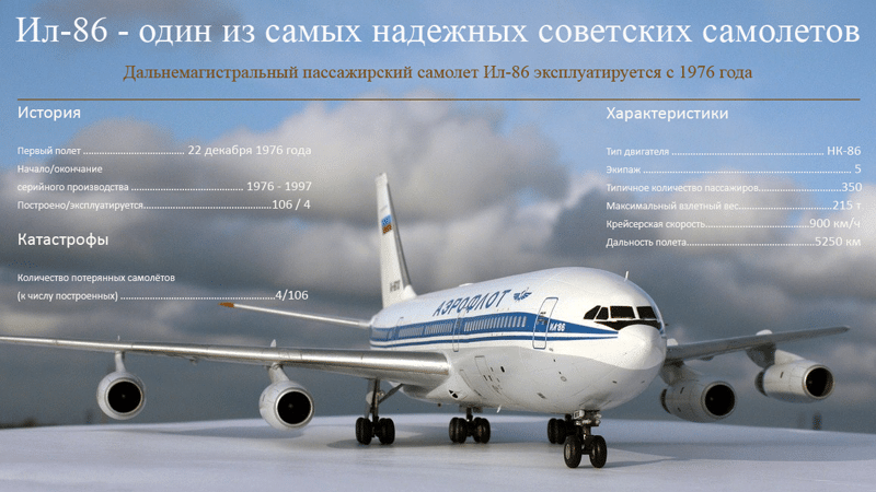 технические характеристики Ил-86