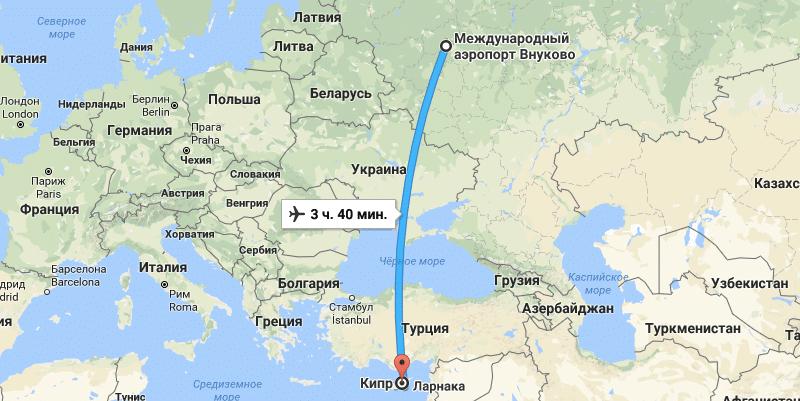 рейс FV-5705 из Внуково в Пафос