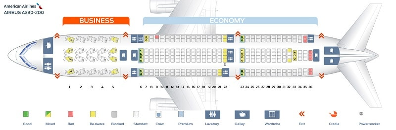 Аэробус 330-200 схема