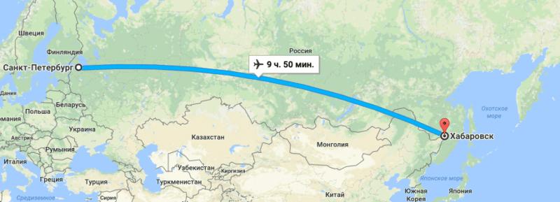 Сколько лететь с Хабаровска до Новосибирска