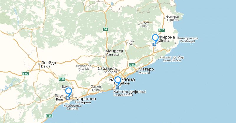 международные аэропорты Барселоны