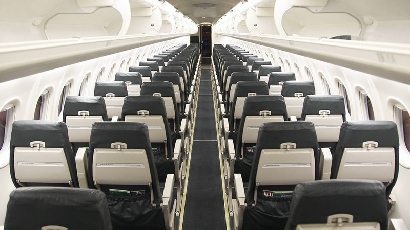 Салон Bombardier Dash 8 Q400