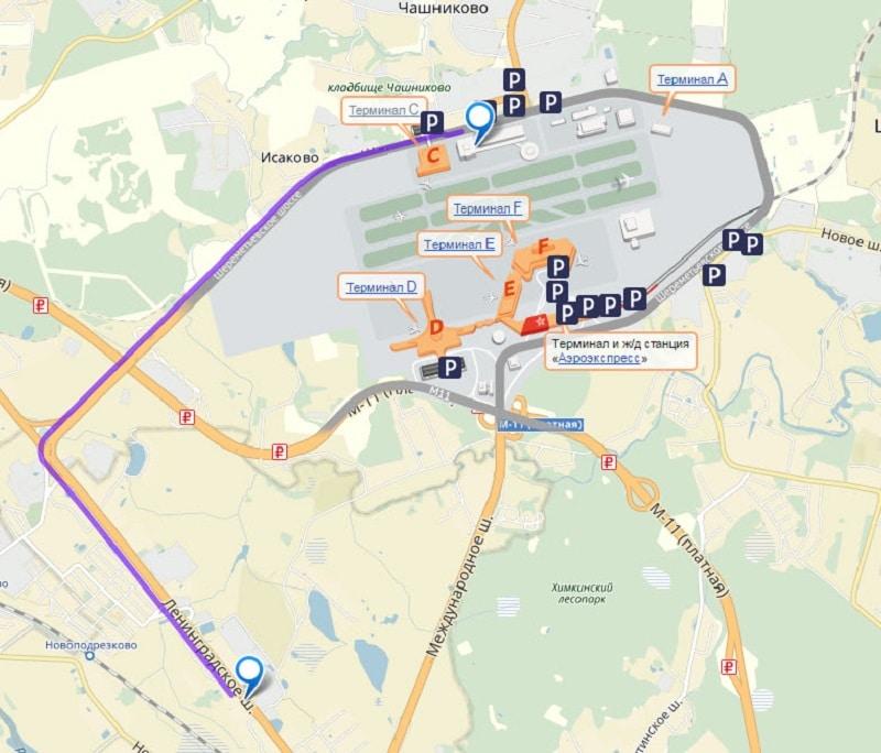 Расписание автобуса до Шереметьево от Речного Вокзала