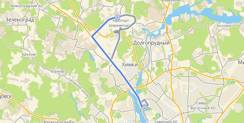 Как доехать до Шереметьево от Речного Вокзала