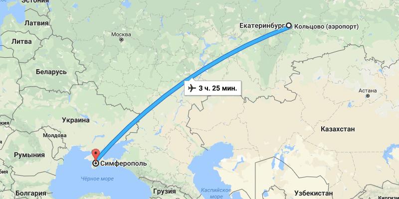 Сколько лететь до Крыма время полета в часах из разных