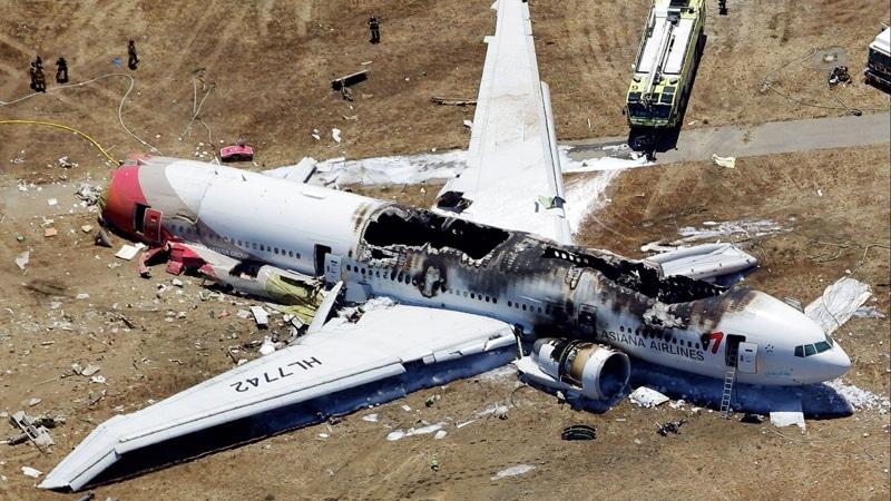 как падают самолеты