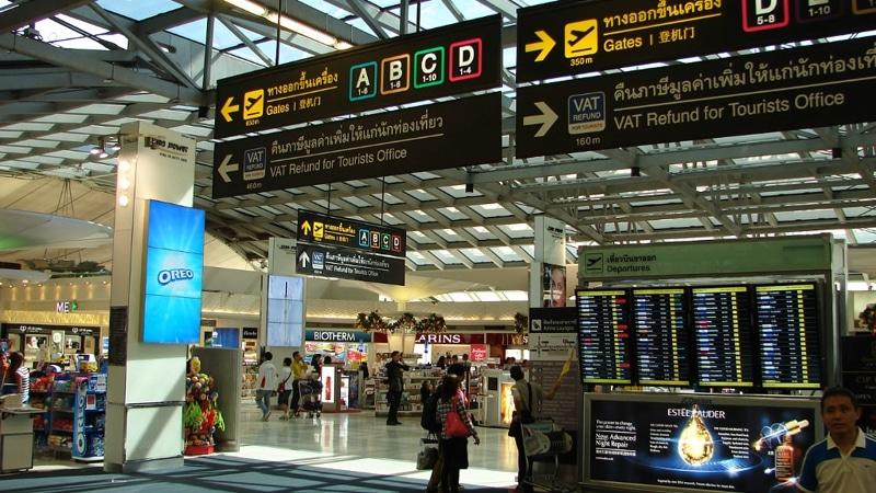 эропорт Бангкока на карте