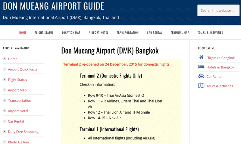 аэропорт Дон Муанг на карте