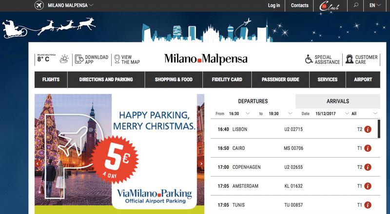 аэропорт Милана Мальпенса официальный сайт