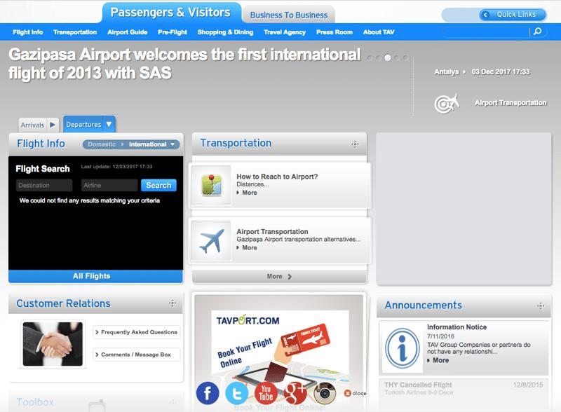аэропорт Газипаша онлайн-табло