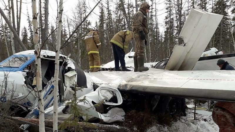 крушение самолета Ту-154 под Красноярском