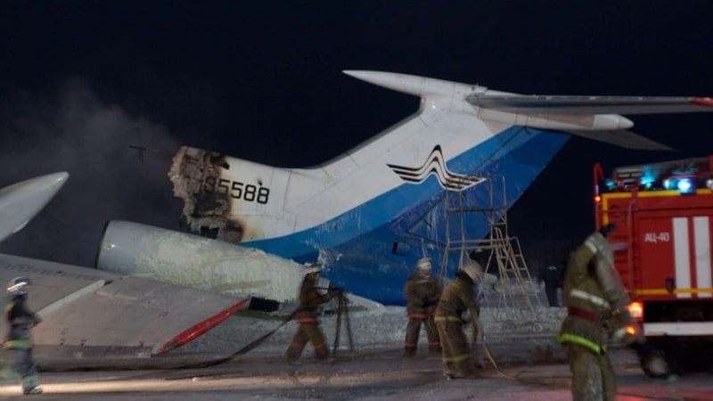 пожар Ту-154 в Сургуте