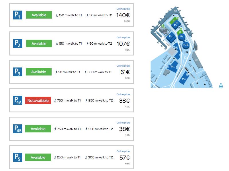 стоимость парковки в аэропорту Хельсинки