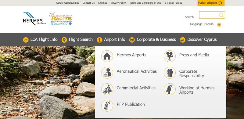 Официальный сайт аэропорта Ларнака