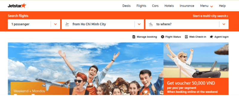 Jetstar Pacific Airlines официальный сайт