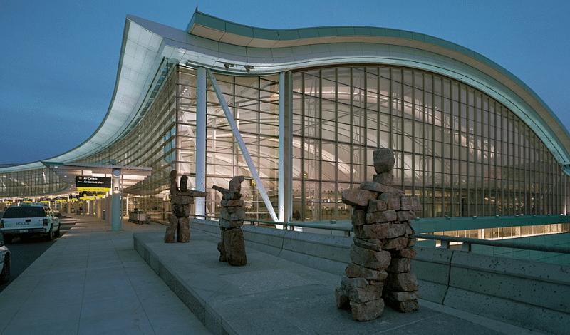 Аэропорты Канады на карте