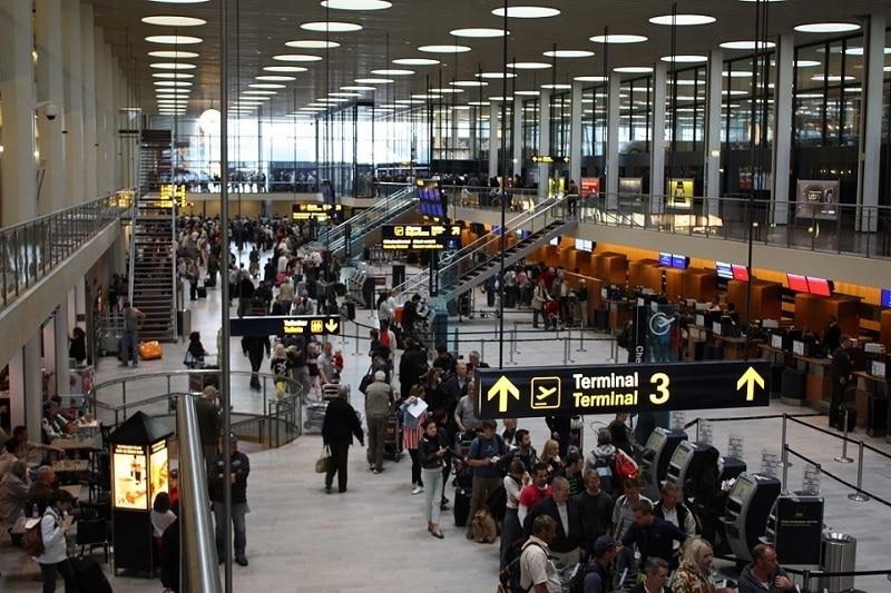 Аэропорт Копенгагена онлайн-табло